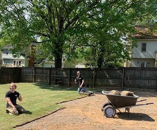 Sod Installation in Cary Neighborhood of Bent Creek