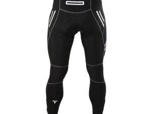 Unisex Reflective Bicycle Pants with Zipper Back Pocket