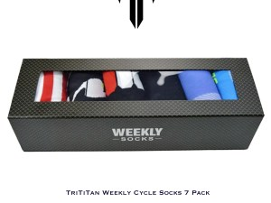 TriTiTan Weekly Cycling Socks 7 Pack with one pair of reflective socks
