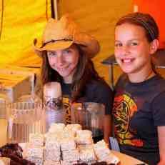 Selling rice krispy treats and brownies