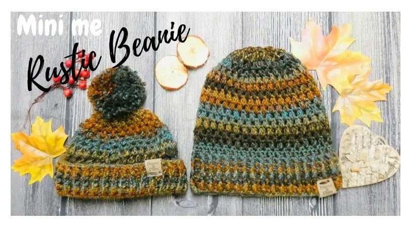 Rustic Beanie Crochet Free Pattern