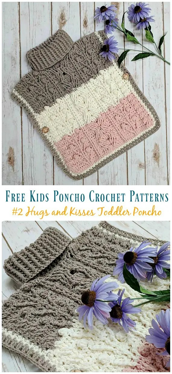 Howtomakes Free Kids Poncho Crochet Patterns 02 Peanut And Plum
