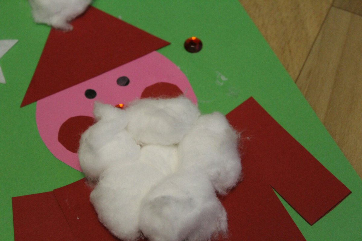 Christmas Craft Activity - Santa Shapes