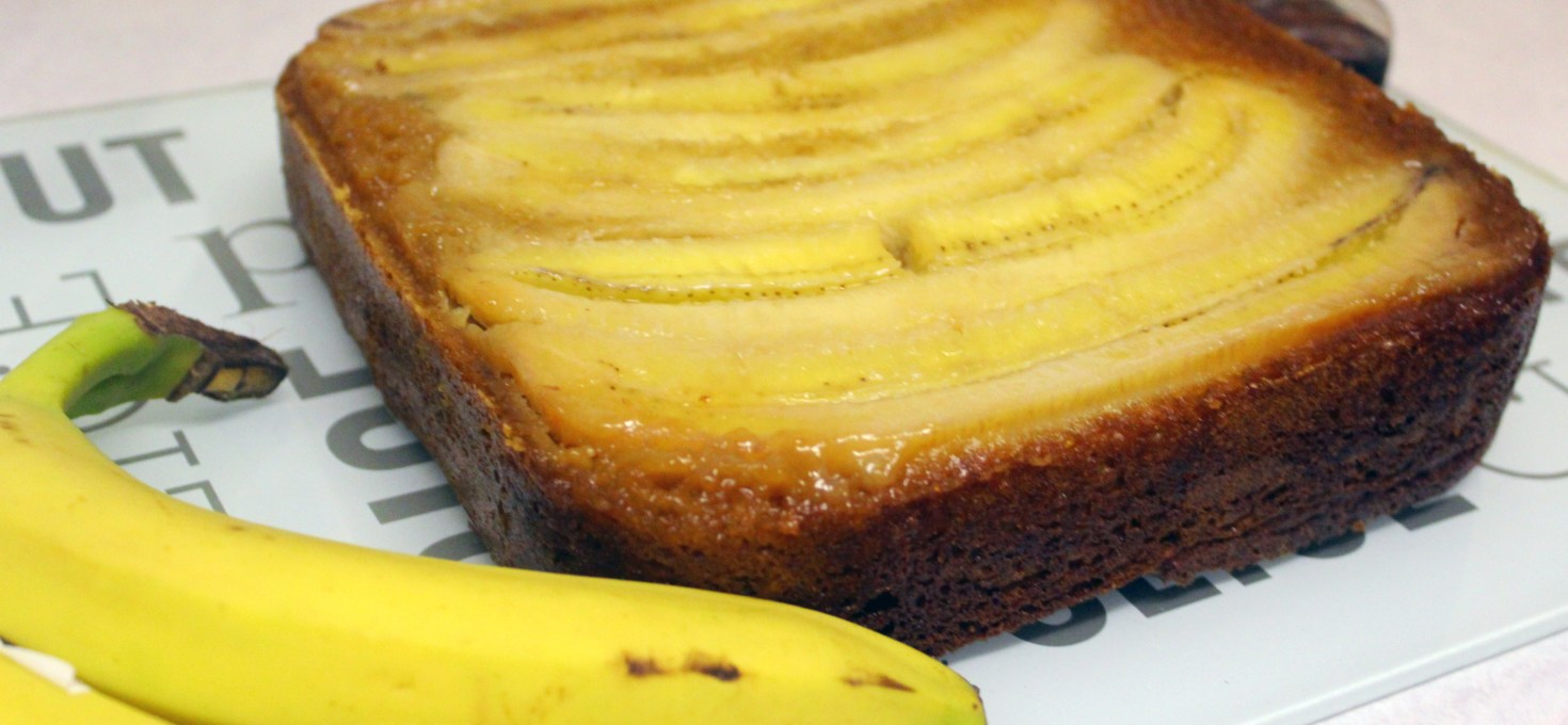 A delicious alternative to banana bread – upside down banana and maple cake