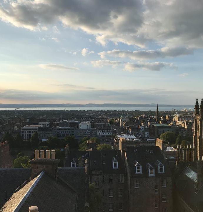 We honeymooned in Edinburgh!