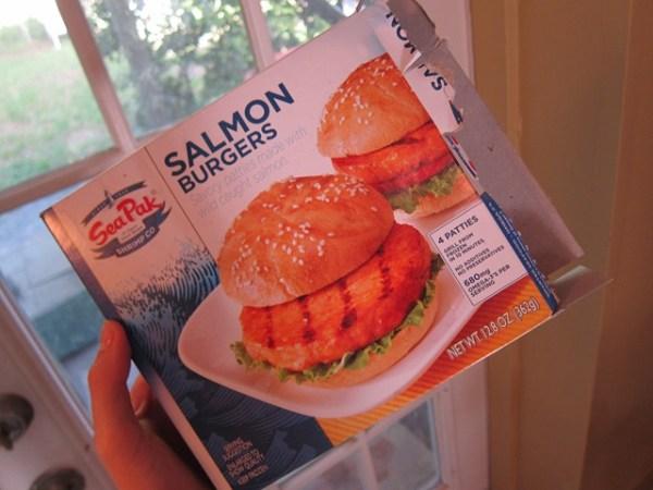 Salmon Burgers Peanut Butter Fingers