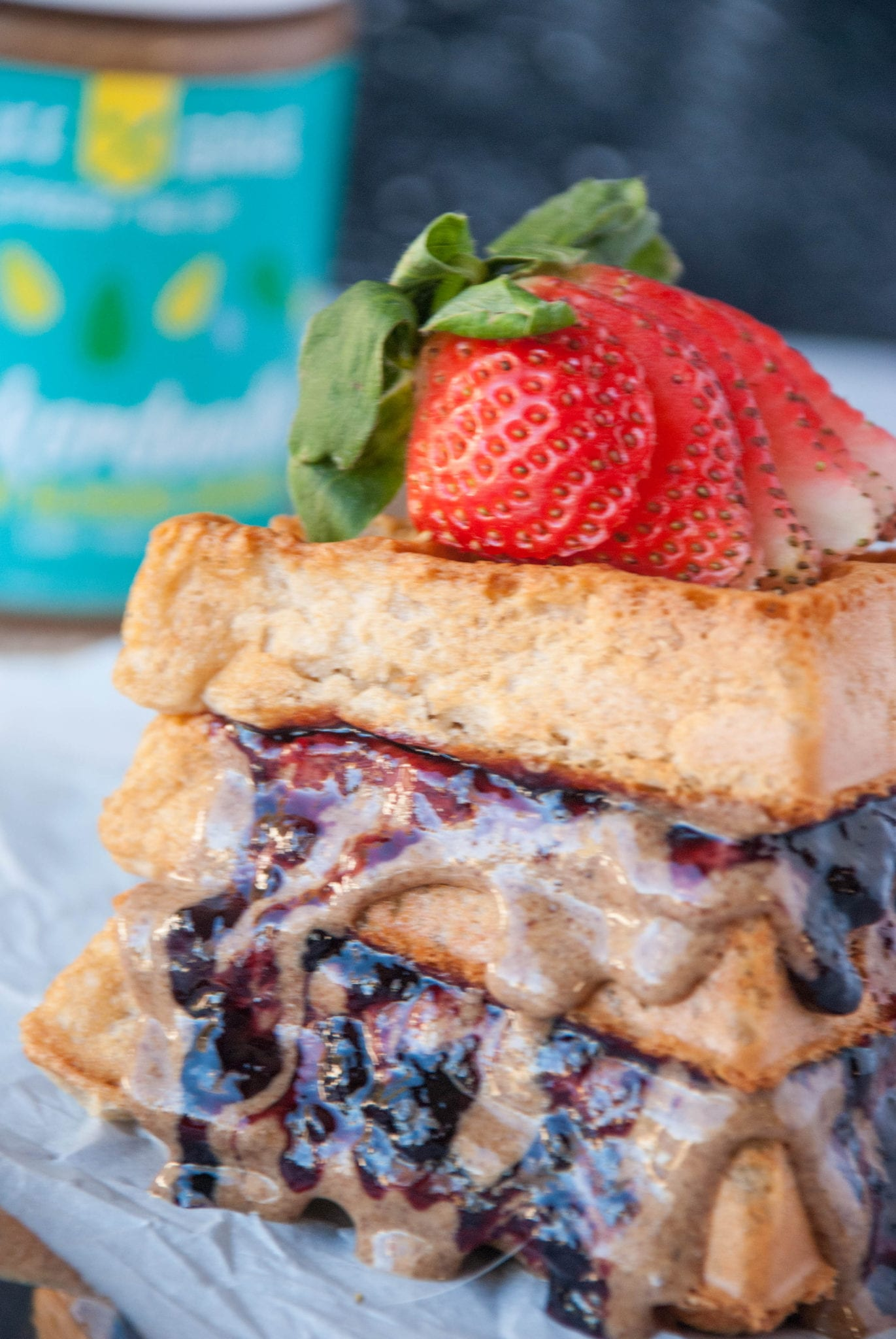 Kodiak Cake's Nut Butter & Jelly Waffles