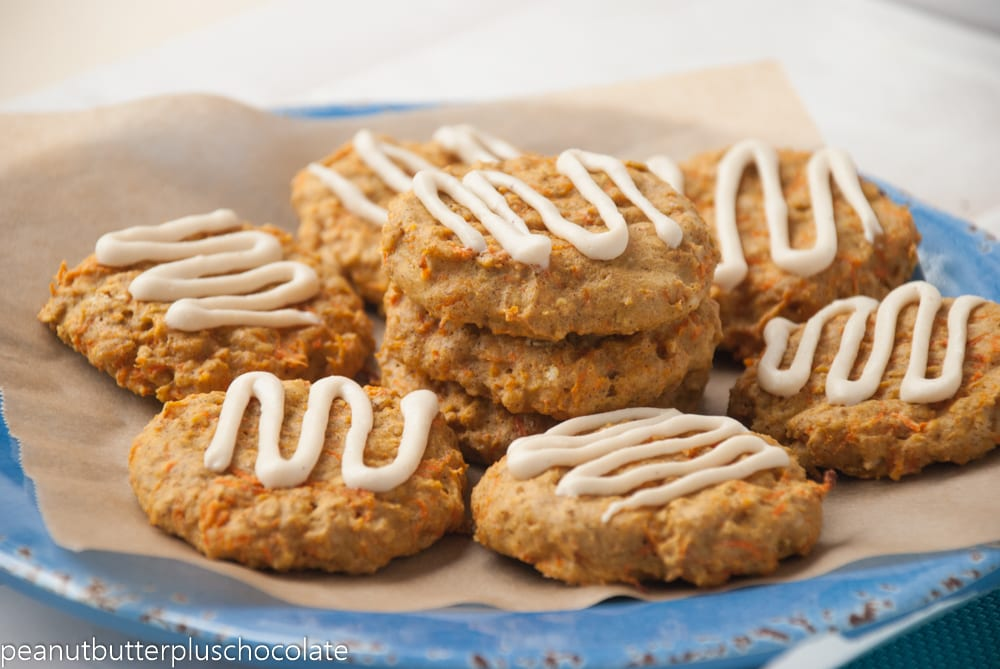 Healthy Carrot Cake Cookies with Cream Cheese Frosting