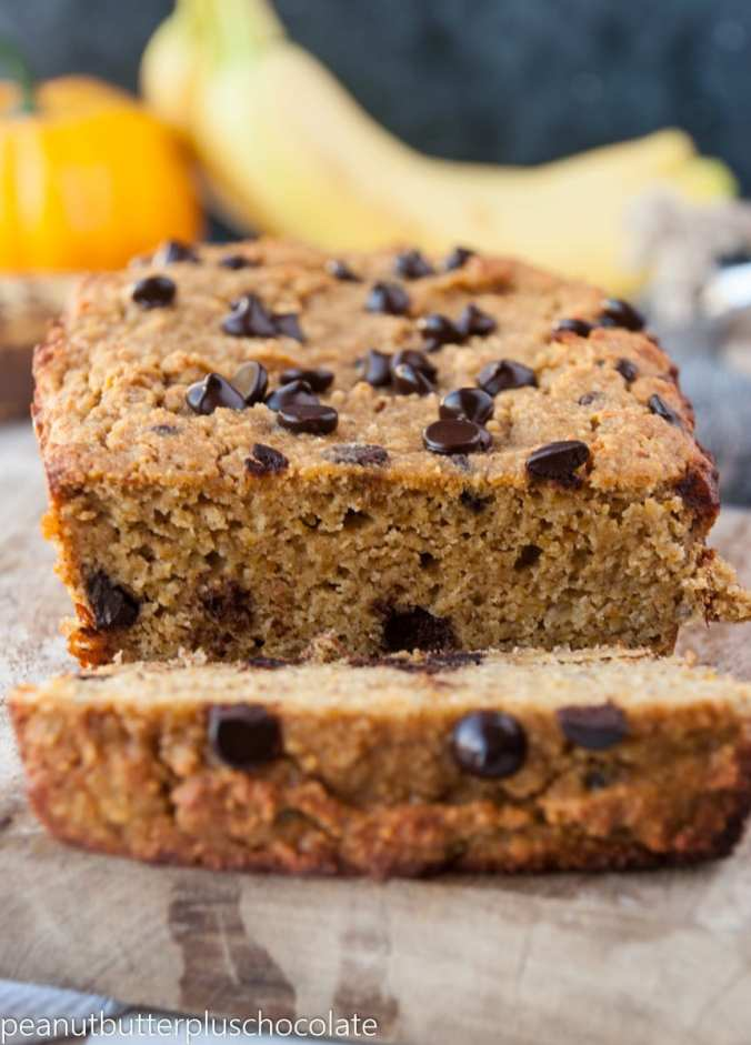 Paleo Pumpkin Chocolate Chip Banana Bread