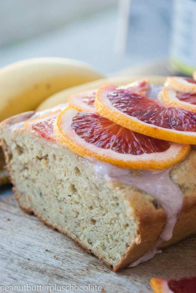Healthy Blood Orange Banana Bread {Gluten-Free & High Protein}