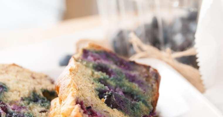 Healthy Flax Blueberry Banana Bread