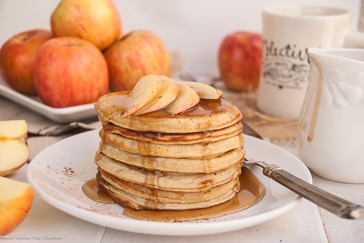 Healthy Apple Cinnamon Ricotta Pancakes