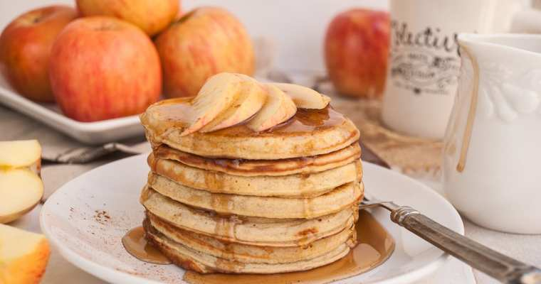 Healthy Apple Cinnamon Ricotta Pancakes