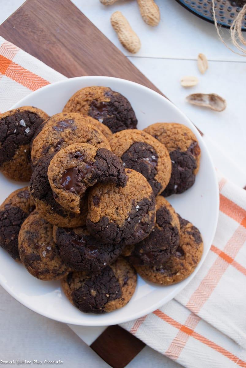 Healthy Pumpkin Peanut Butter Chocolate Brownie Cookies