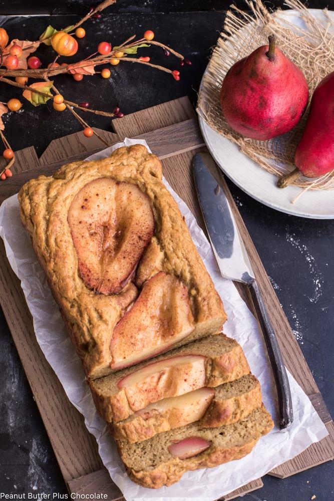 Healthy Red Pear Banana Bread