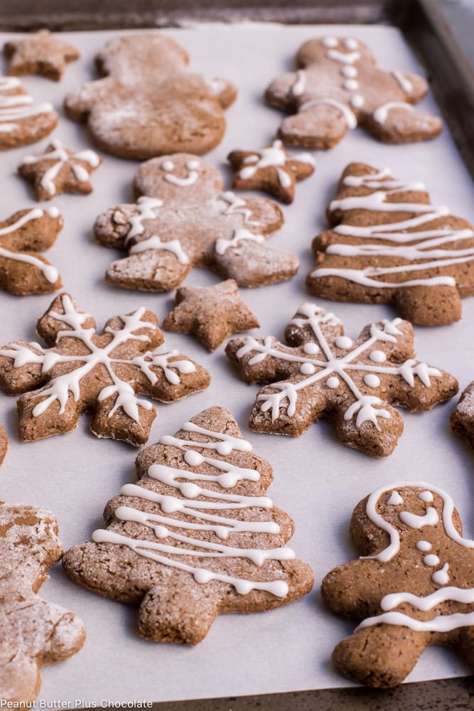 Healthy Gingerbread Cut Out Cookies (gluten-free)