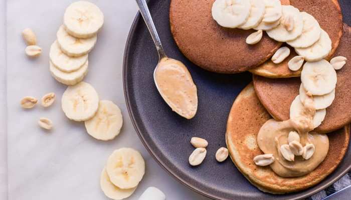 Healthy Peanut Butter Pancakes