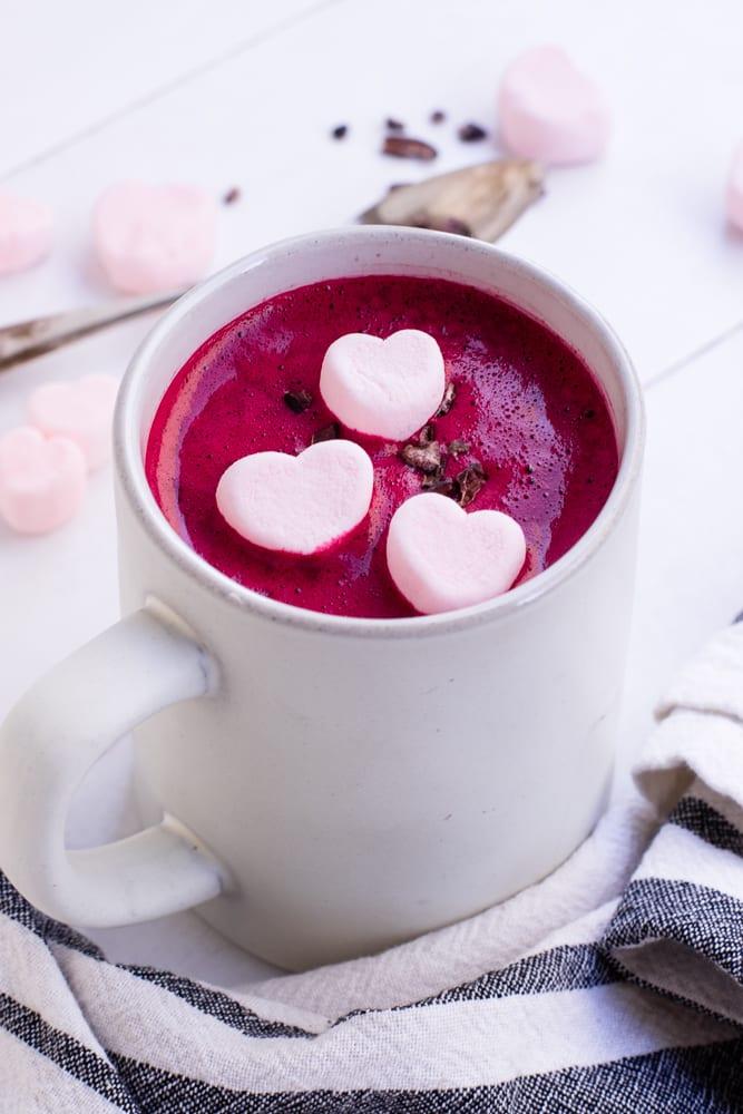 Healthy Red Velvet Hot Chocolate