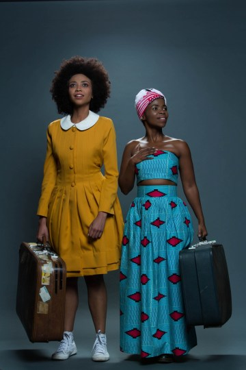 Lynelle Kenned (Grace) and Zolani Mahola (Lindiwe) in Calling Me Home. Photo by Oscar O'Ryan Photography