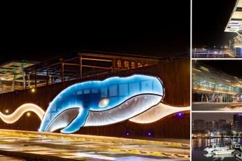 【台南景點】台南安平鯨魚廣場!夜晚限定絕美景緻「大魚星光牆」等你來一睹風采~