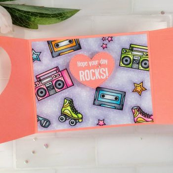 Pear Blossom Press Neon Gatefold Card