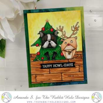 Light up Christmas Card EZ-Lights Pawlidays
