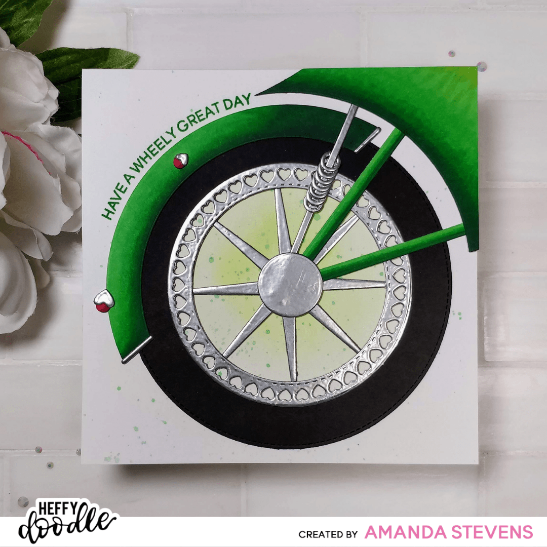 Wheely Fun Paper Pieced Motorcycle