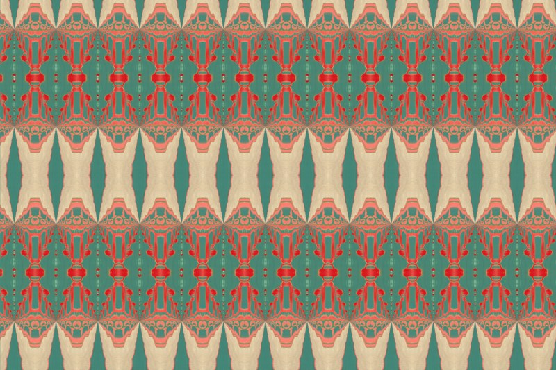Itzel turquoise coral fabric
