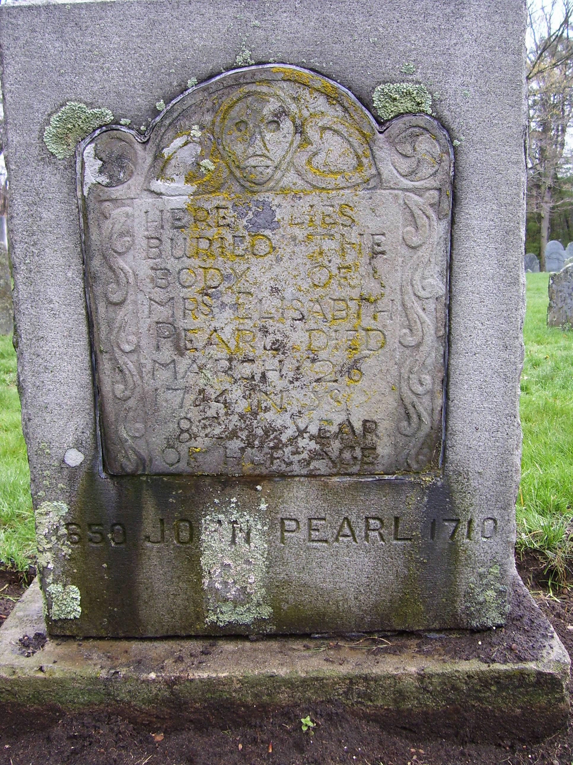 Elizabeth Pearl Grave Marker