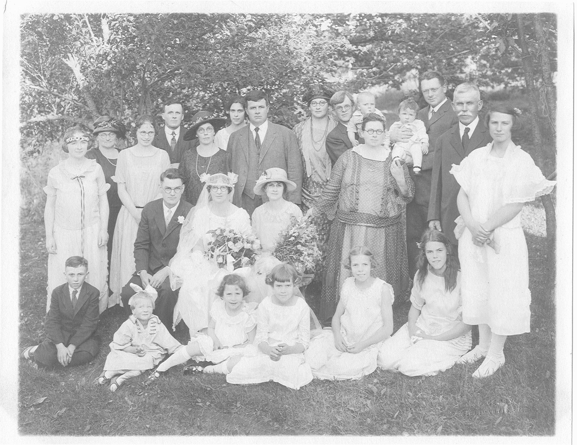 Joseph and Evelyn (Pearl) Estabrooks Wedding