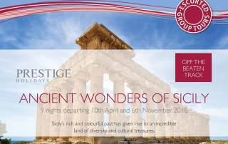 Prestige Holidays - Ancient Wonders of Sicily Tour Offer - April 2018