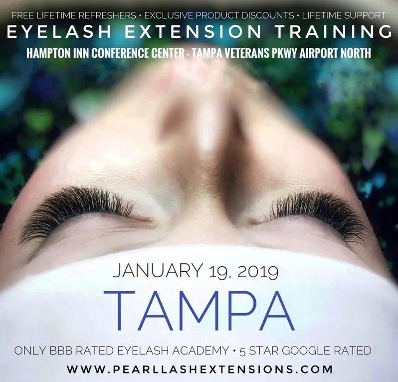 Tampa Eyelash Extension Classic Training Class January 19 Pearl Lash