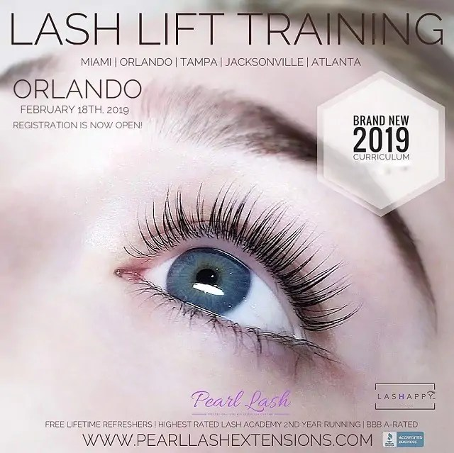 2259541011c Pearl Lash Is Excited To Announce The Re-Opening Of Our Patented Lash Lift  & Tint Training With Keratin Option!