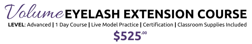 Volume eyelash extension training cost