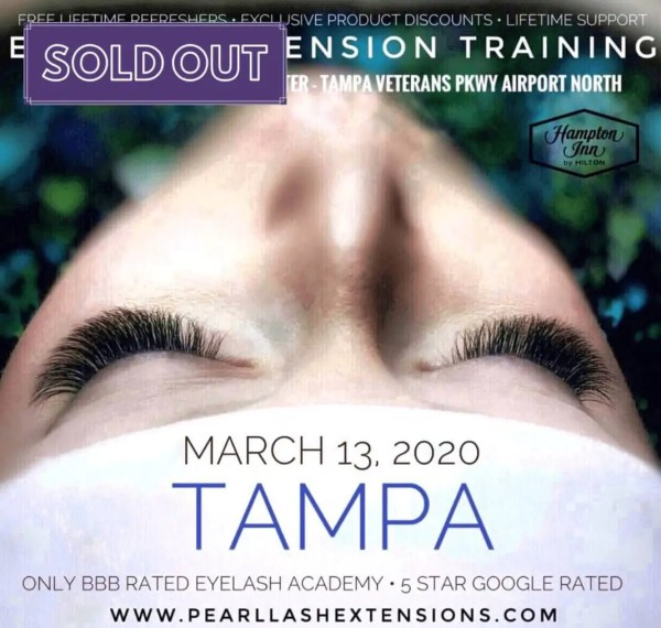 Eyelash Extension Training by Pearl Lash Tampa Sold Out