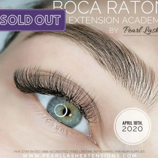 Eyelash Extension Training by Pearl Lash Boca Raton