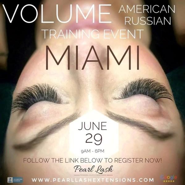 Volume Eyelash Extension Training Miami Pearl Lash