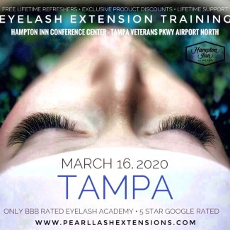 Eyelash Extension Training Tampa March 16, 2020
