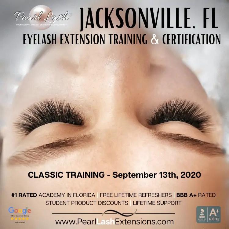 Eyelash Extension Classic Training Jacksonville, FL by Pearl Lash