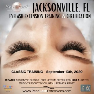 Eyelash Extension Classic Training Jacksonville, FL by Pearl Lash