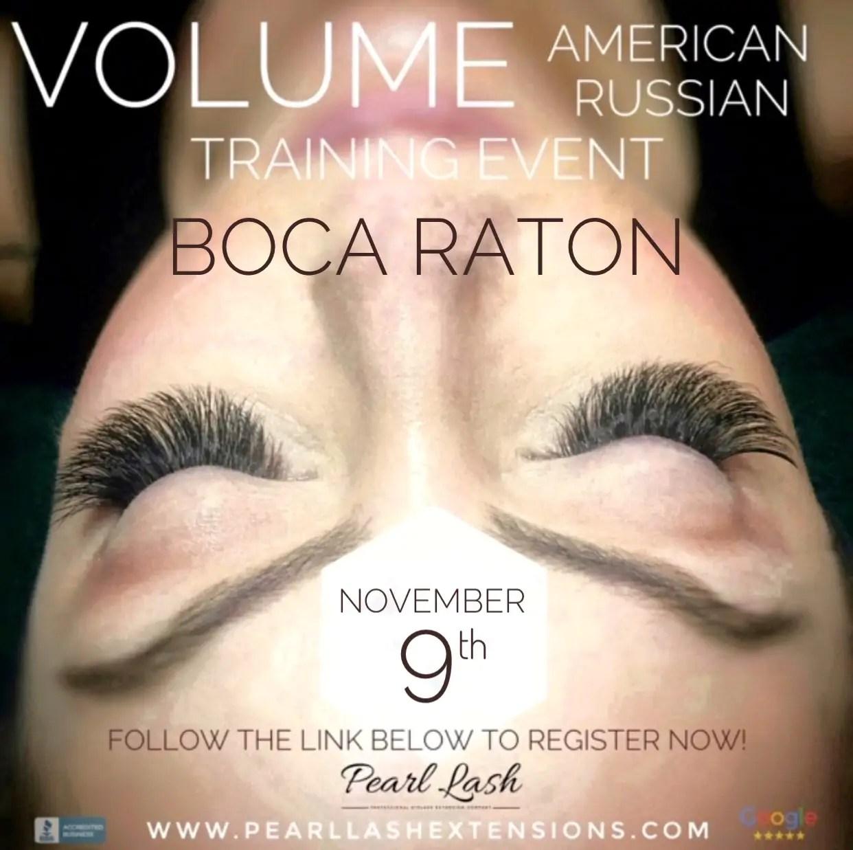 Volume Eyelash Extension Training by Pearl Lash Boca Raton