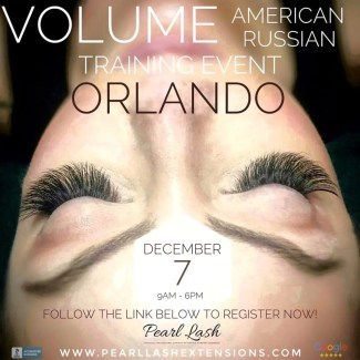 Volume Eyelash Extension Training Orlando by Pearl Lash