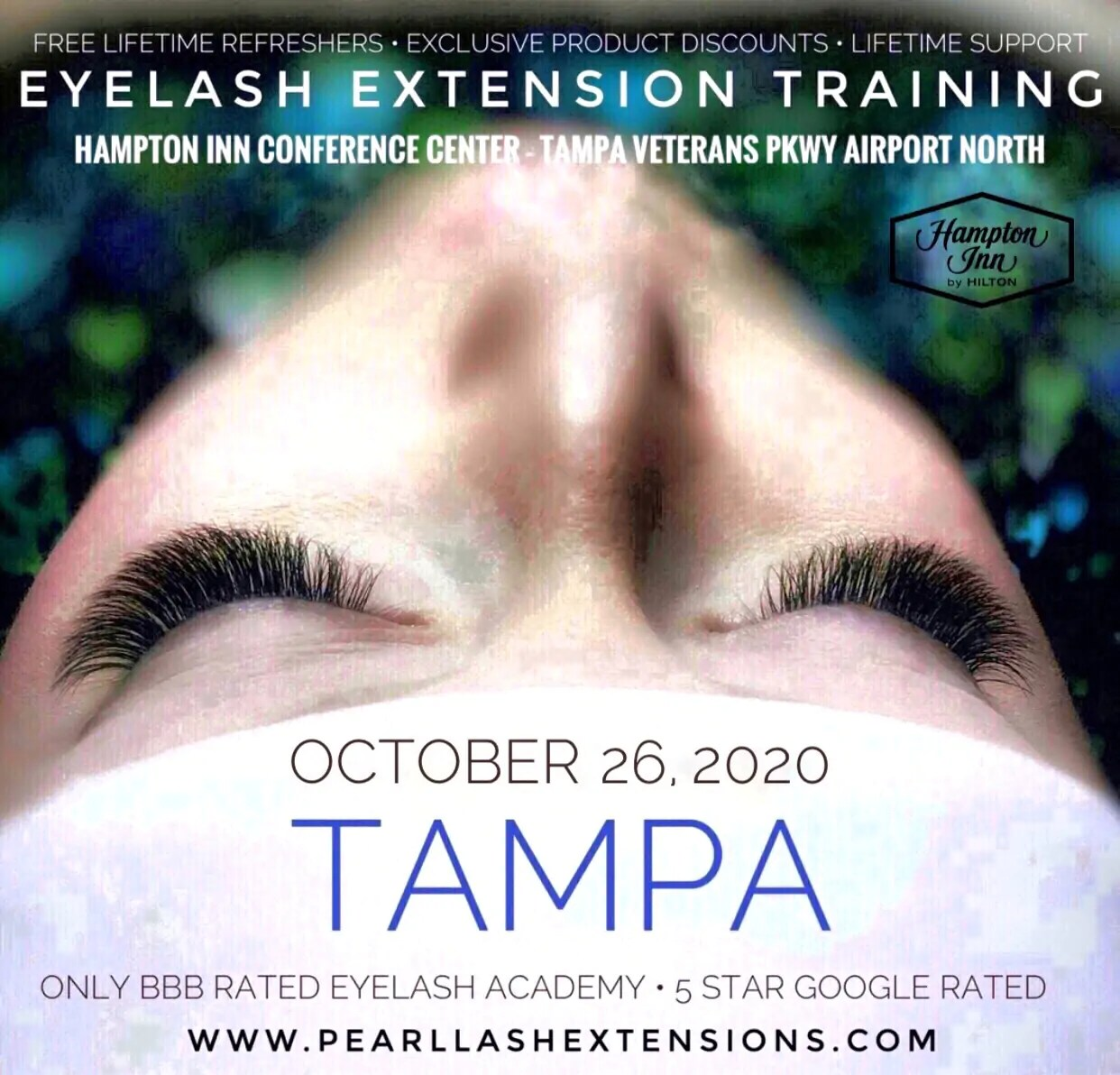 Eyelash Extension Training Tampa by Pearl Lash