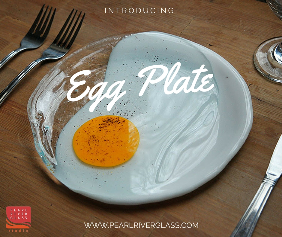 egg plate with logo