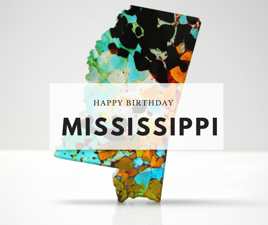 Pearl River Glass Studio  Happy Birthday Mississippi