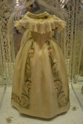 I did a double take when I saw this dress, I thought it would have been her's from when she was growing up. NOPE. QUEEN VICTORIA WAS SO TINY. I would have been able to rest my chin on top of her head and I probably would have still had to bend down a little.
