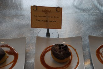 This Caramelia choux is inspired by The Langham Hong Kong.