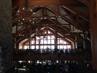 Dine downstairs in the Clubhouse or on the second overlooking the mountain.