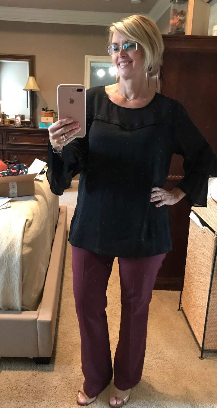 Hazel Hursty Ruffle Sleeve Blouse