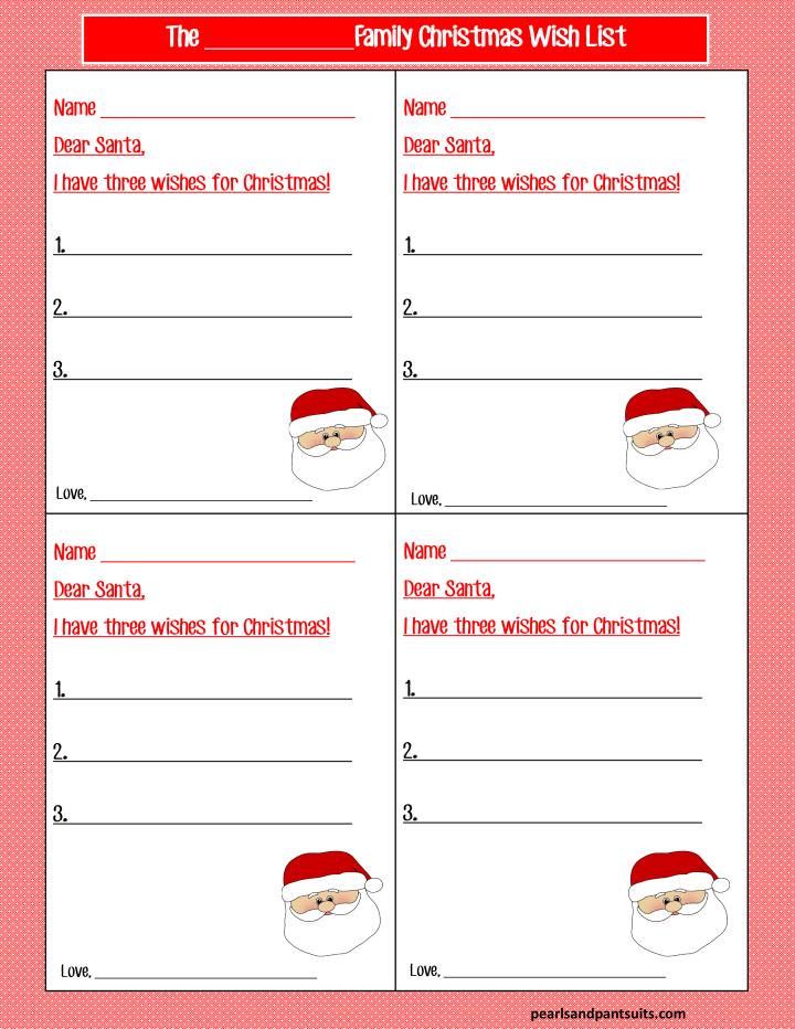 Three Things for Christmas - Wish List